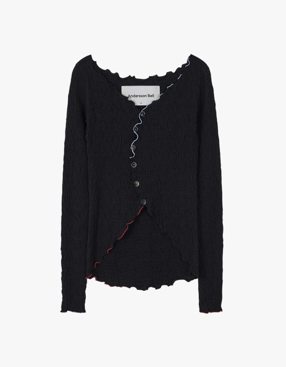 Andersson Bell [6월 2일 예약발송 ]Francis Asymmetric Hippie Cardigan - Black | HEIGHTS. | International Store