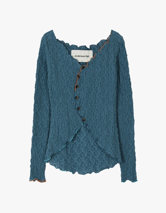 Andersson Bell Francis Asymmetric Hippie Cardigan - Blue | HEIGHTS. | International Store