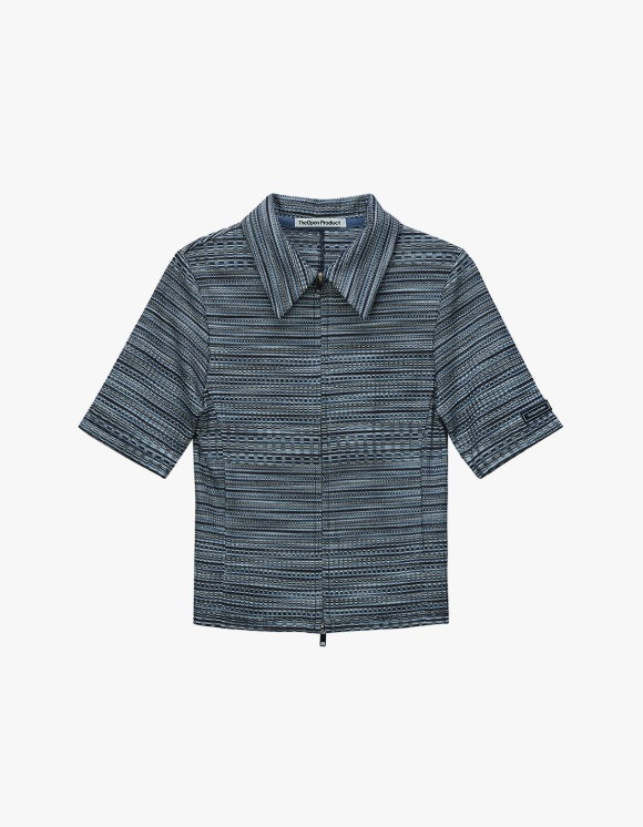 TheOpen Product Two Way Zip Fitted Shirt - Blue | HEIGHTS. | International Store