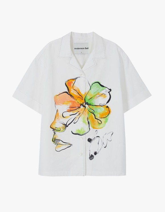 Andersson Bell Fleur Printed Shirts - White | HEIGHTS. | International Store