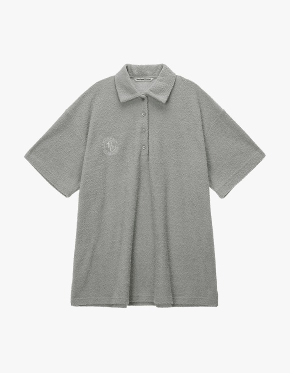 TheOpen Product Terry Collared S/S Tee - Gray | HEIGHTS. | International Store