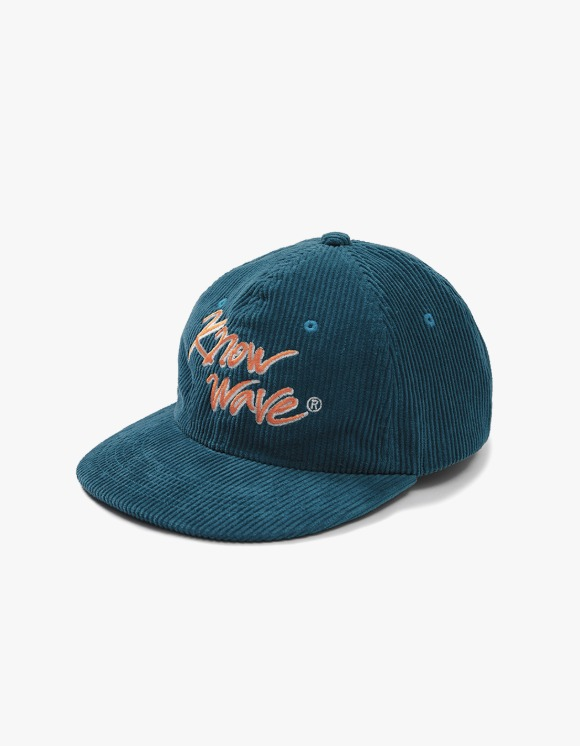 Know Wave Calligraphy Corduroy Trucker Cap - Green | HEIGHTS. | International Store