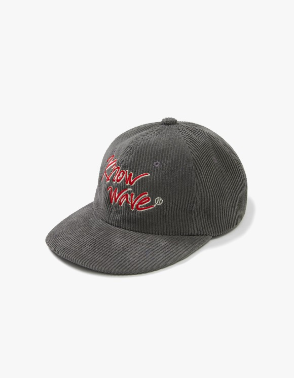 Know Wave Calligraphy Corduroy Trucker Cap - Charcoal Grey | HEIGHTS. | International Store