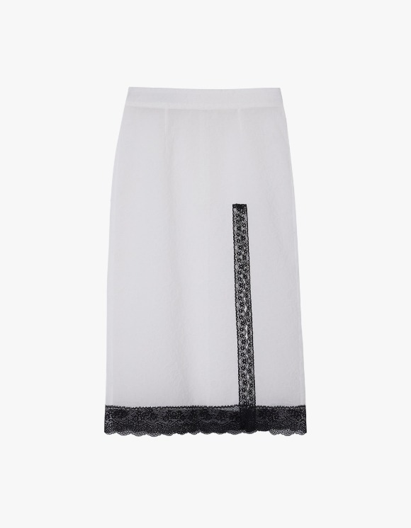 Andersson Bell Embo Flower Seethrough Skirt - White | HEIGHTS. | International Store